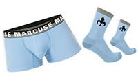 Empire Boxer Blue with Socks